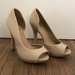 Mix No. 6 Open Toe Nude Platform Heels